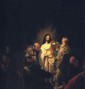 Rembrandt Van Rijn - The Incredulity of St. Thomas