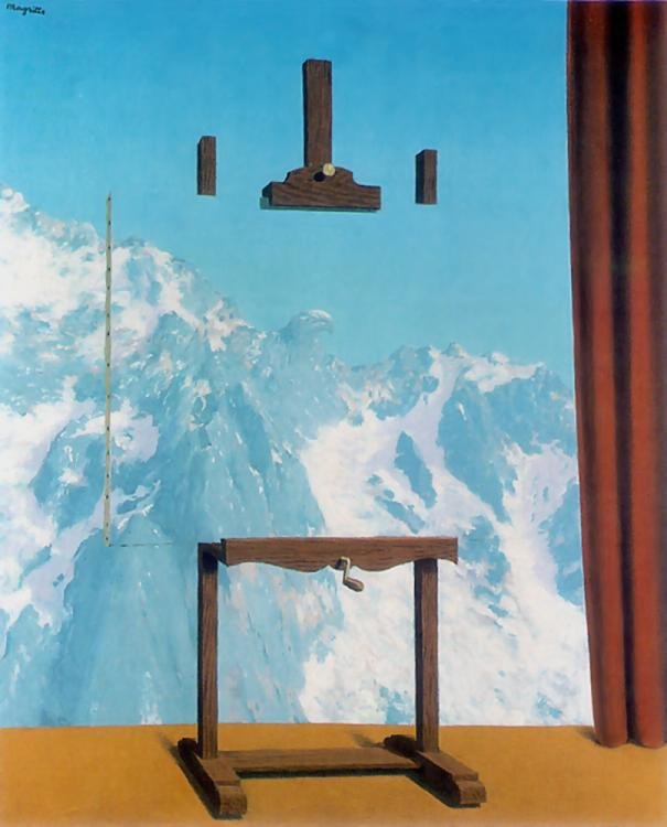 "René Magritte (1898-1967) ""Call of the peaks"""