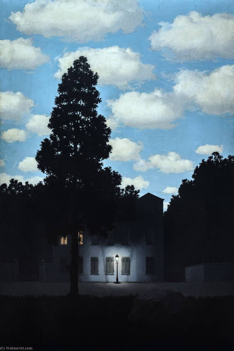 Empire Of Light, 1953 by Rene Magritte (1898-1967, Belgium) | Art Reproduction | WahooArt.com