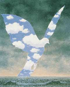Rene Magritte - The Big Family - (paintings reproductions)