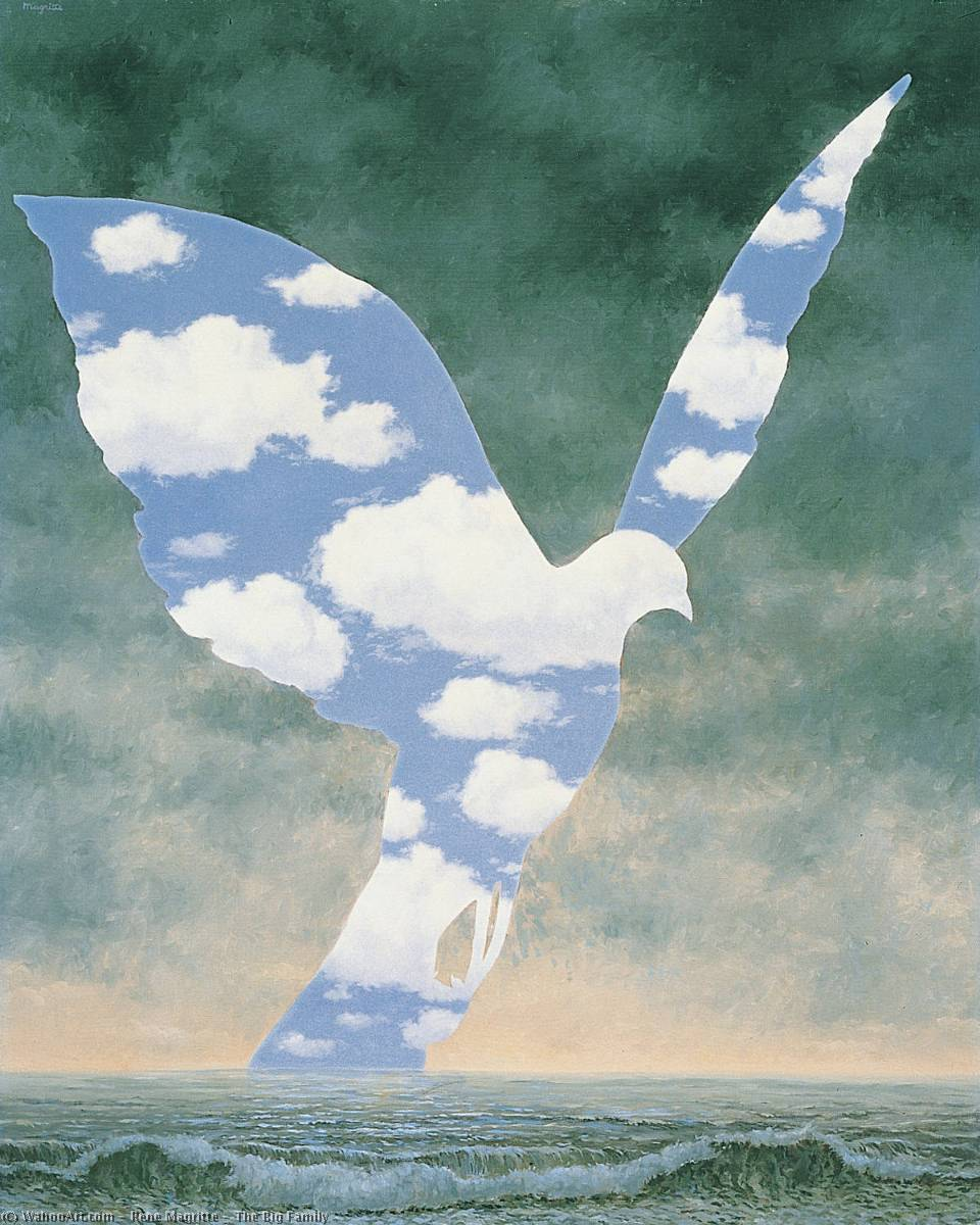 The Big Family, 1963 by Rene Magritte (1898-1967, Belgium) | Oil Painting | WahooArt.com