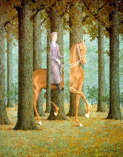 The Blank Check, Oil by Rene Magritte (1898-1967, Belgium)