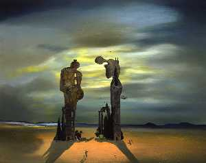 Salvador Dali - Archeological Reminiscence Of Millet-S Angelus