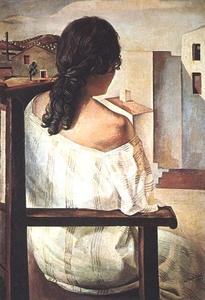 Salvador Dali - Girl from the Back, 1925