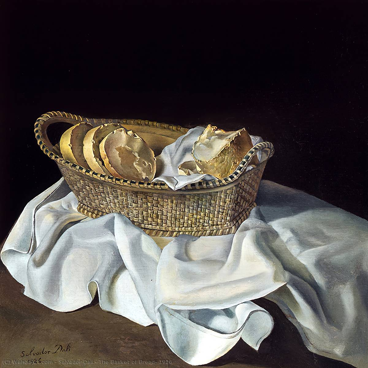 The Basket of Bread, 1926, Oil by Salvador Dali (1938-3183, Spain)