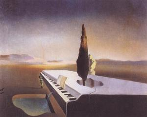 Salvador Dali - Necrophilic Fountain Flowing from a Grand Piano, 1933