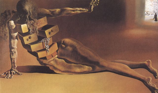 Anthropomorphic Cabinet, 1936, Oil by Salvador Dali (1938-3183, Spain)