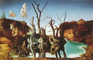 Salvador Dali - Swans Reflecting Elephants, 1937