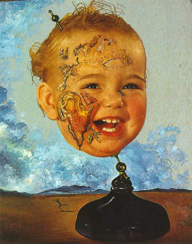 Famosos Baby Map of the World, 1939, Oil by Salvador Dali (1938-3183, Spain) RX84