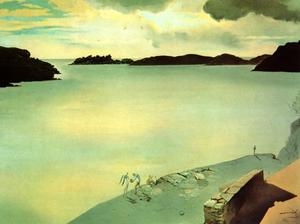 Salvador Dali - Landscape of Port Lligat, 1950