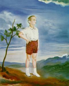 Salvador Dali - Portrait of a Child (unfinished), 1951