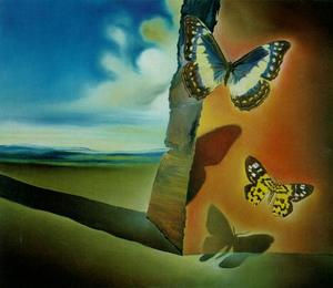 Salvador Dali - Untitled (Landscape with Butterflies), circa 1956