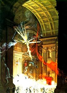 Salvador Dali - St. Peter-s in Rome (Explosion of Mystical Faith in the Midst of a Cathedral), 1960