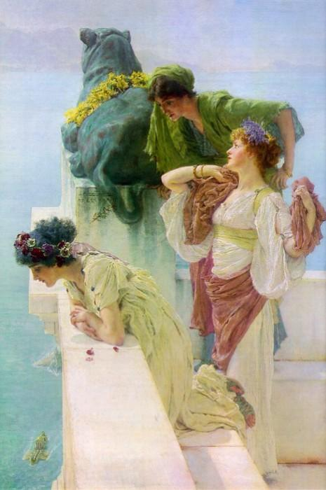 A Coign of Vantage, 1895 by Lawrence Alma-Tadema (1836-1912, Netherlands) | Art Reproduction | WahooArt.com