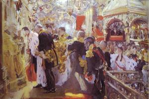 Valentin Alexandrovich Serov - Coronation of the Emperor Nicholas II in The Uspensky Cathedral