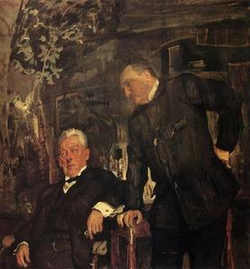 Buy Museum Art Reproductions | Portrait of Alexander Lensky and Alexander Yuzhin, 1908 by Valentin Alexandrovich Serov (1865-1911, Russia) | WahooArt.com
