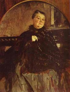 Valentin Alexandrovich Serov - Portrait of the Actress Glikeria Fedotova