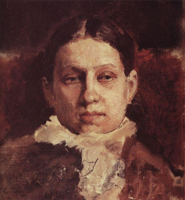 Order Paintings Reproductions | Portrait of Vera Repina, 1881 by Valentin Alexandrovich Serov (1865-1911, Russia) | WahooArt.com