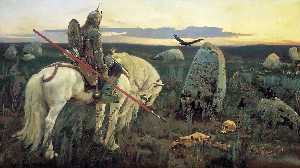 Victor Vasnetsov - A Knight At the Crossroads