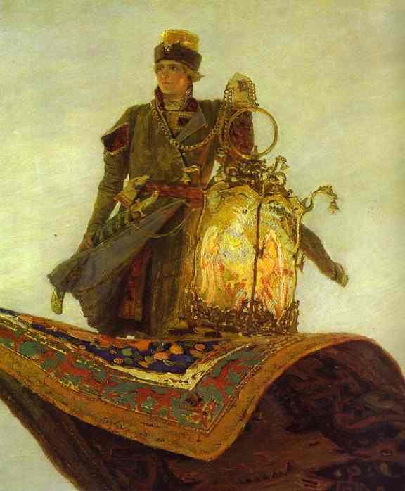 The Magic Carpet Detail Oil By Victor Vasnetsov 1848