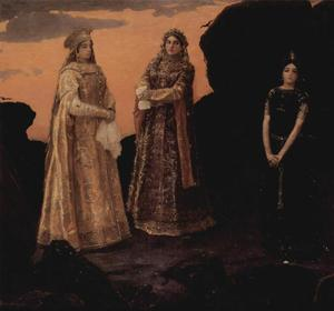 Victor Vasnetsov - Three Tsarevnas of the Underground Kingdom