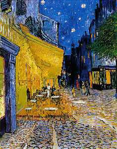 Vincent Van Gogh - The Cafe Terrace on the Place du Forum (Cafe Terrace at night)