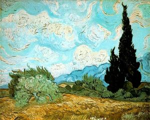 Vincent Van Gogh - Wheat Field with Cypresses [1889]