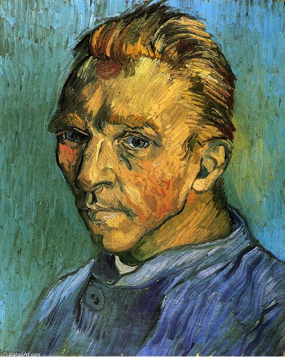 Self Portrait, 1889 by Vincent Van Gogh (1853-1890, Netherlands) | Paintings Reproductions Vincent Van Gogh | WahooArt.com
