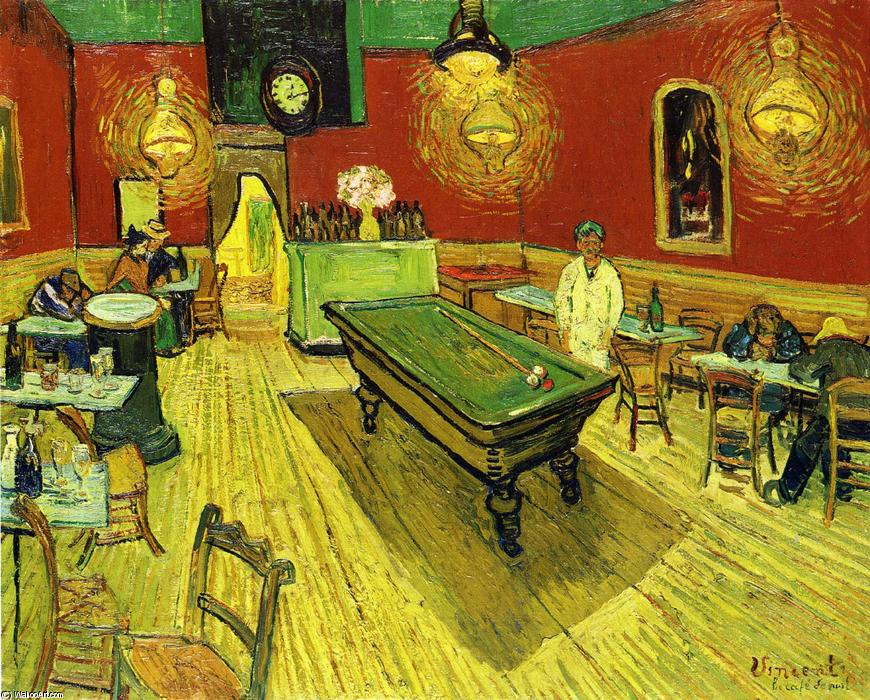 The Night Cafe, Oil On Canvas by Vincent Van Gogh (1853-1890, Netherlands)