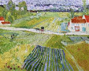 Vincent Van Gogh - A Road in Auvers after the Rain