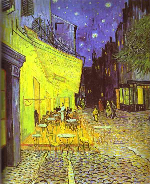 Order Famous Paintings Reproductions : Café Terrace at Night by Vincent Van Gogh (1853-1890, Netherlands) | WahooArt.com