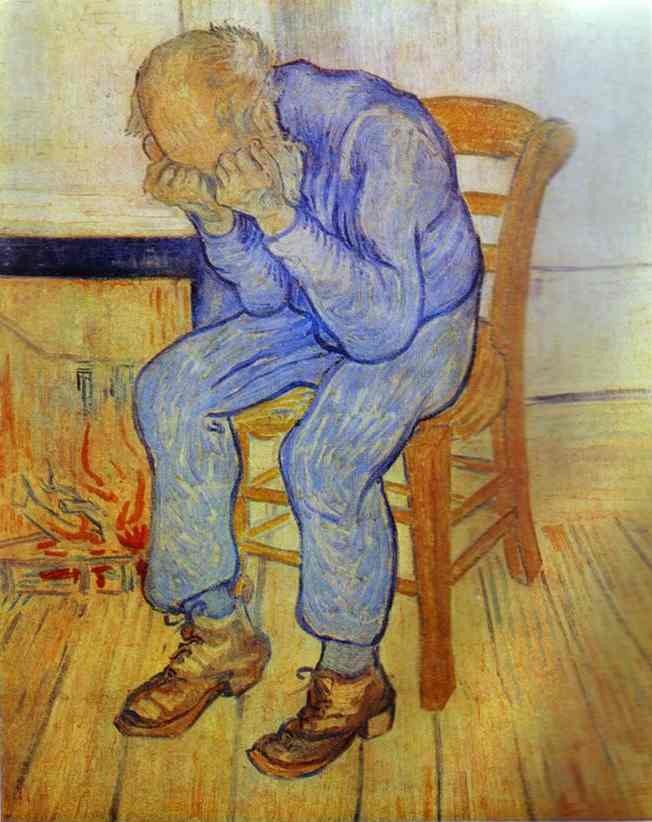 Old Man in Sorrow, Oil by Vincent Van Gogh (1853-1890, Netherlands)