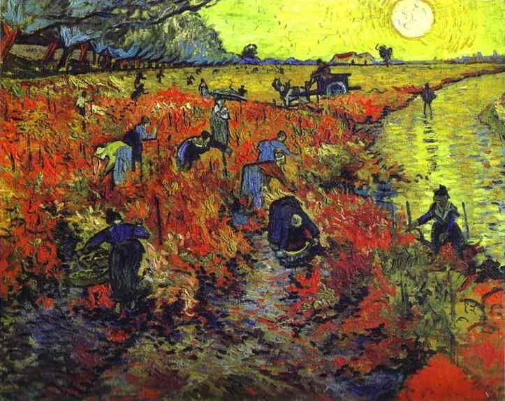 Red Vineyards of Arles by Vincent Van Gogh (1853-1890, Netherlands) | Oil Painting | WahooArt.com