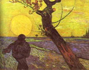 Vincent Van Gogh - Sower with Setting Sun (After Millet)