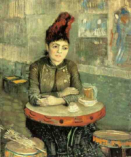 Agostina Segatori Sitting in the Cafe du Tambourin, Oil by Vincent Van Gogh (1853-1890, Netherlands)