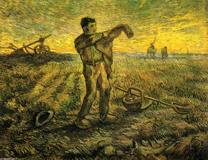 Vincent Van Gogh - Evening - The End of the Day (after Millet)