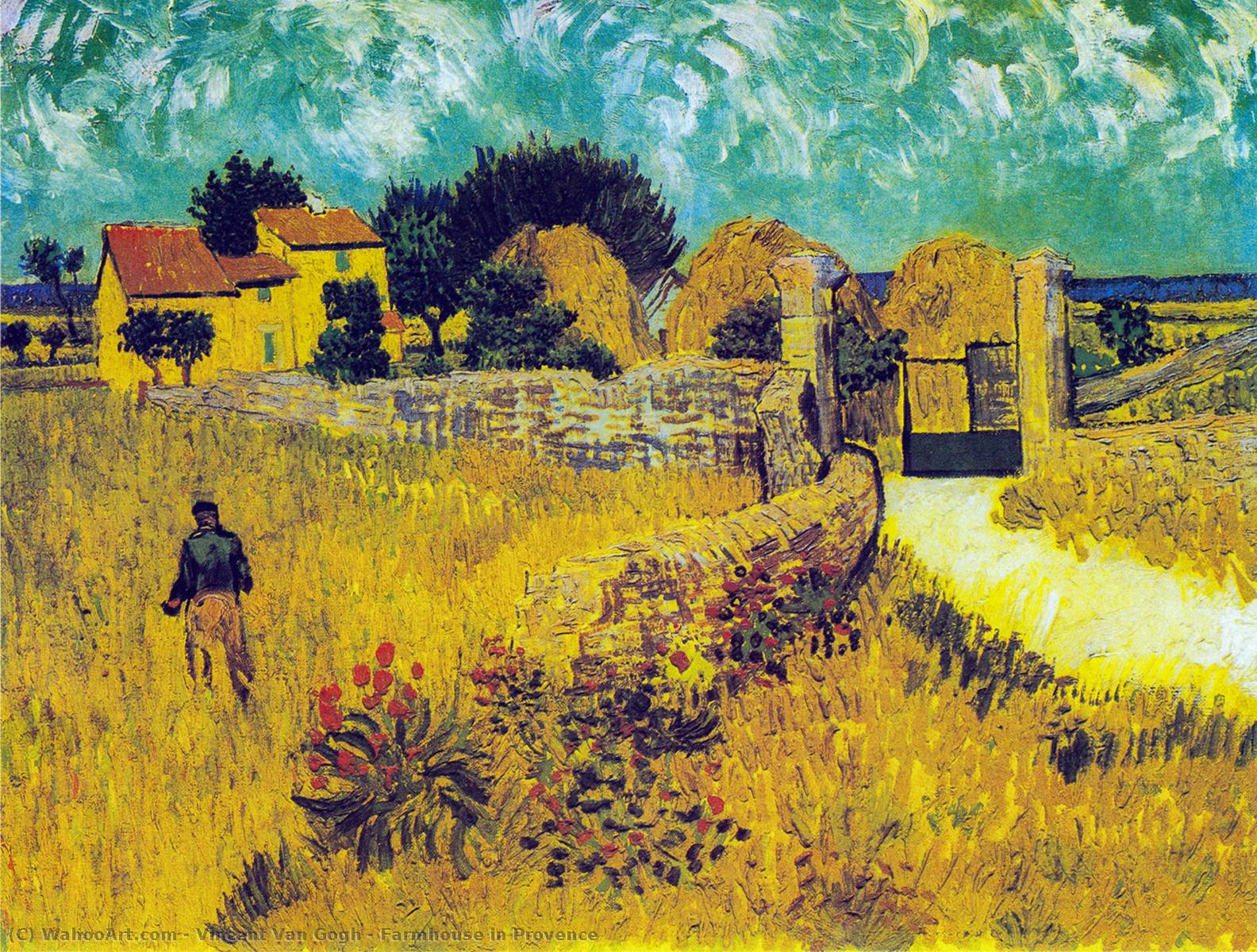 Farmhouse in Provence, 1888 by Vincent Van Gogh (1853-1890, Netherlands) | Art Reproductions Vincent Van Gogh | WahooArt.com