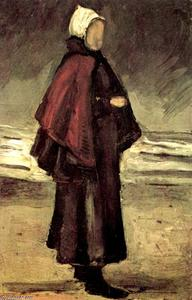 Vincent Van Gogh - Fisherman-s Wife on the Beach