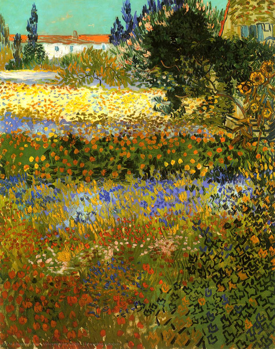Flowering Garden, Oil On Canvas by Vincent Van Gogh (1853-1890, Netherlands)