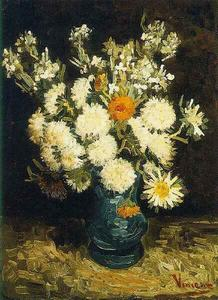 Vincent Van Gogh - Flowers in a Blue Vase