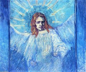 Vincent Van Gogh - Half-Figure of an Angel (after Rembrandt)