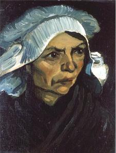 Vincent Van Gogh - Head of a Peasant Woman with White Cap 5