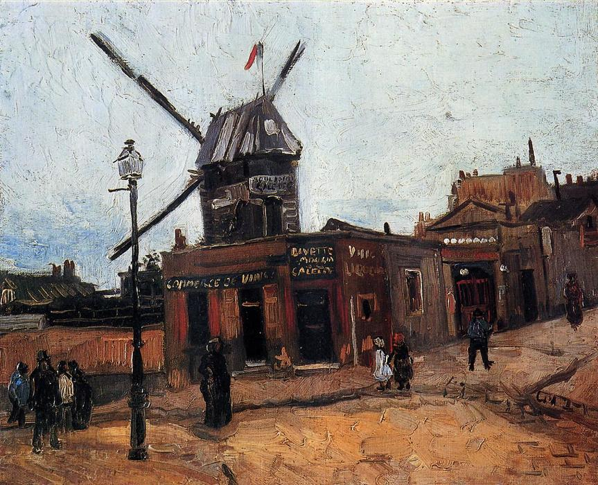 Le Moulin de la Galette, Oil On Canvas by Vincent Van Gogh (1853-1890, Netherlands)