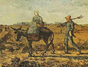 Vincent Van Gogh - Morning Peasant Couple Going to Work