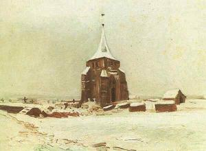 Vincent Van Gogh - Old Cemetery Tower at Nuenen in the Snow, The