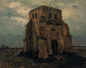 Vincent Van Gogh - Old Church Tower at Nuenen The Peasants Churchyard