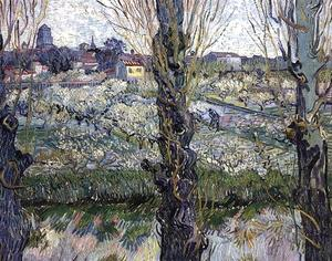 Vincent Van Gogh - Orchard in Blossom with View of Arles - (oil painting reproductions)