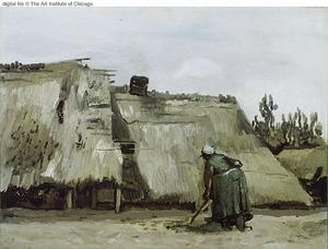 Vincent Van Gogh - Peasant Woman Digging in Front of Her Cottage