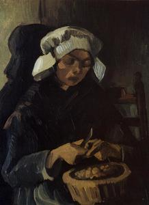 Vincent Van Gogh - Peasant Woman Peeling Potatoes