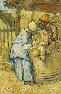 Vincent Van Gogh - Sheep-Shearers, The after Millet
